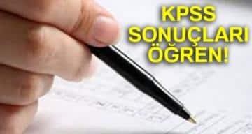KPSS ön lisans sonuçları açıklandı | KPSS Ön lisans sonuçları SORGULA